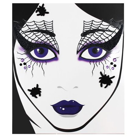 Morris Costumes GLFD021 Adult Face Decal Spider Web - image 1 de 1