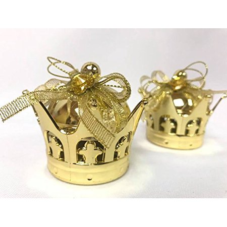 Gold Color Plastic Gift Crowns Party Favor 25 Small Empty