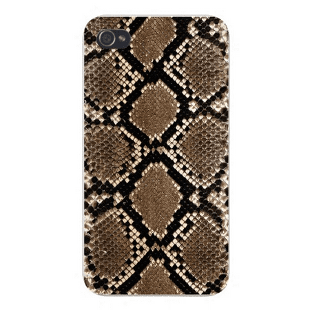 Snake Skin Design (Apple Iphone Custom Case 5 / 5s AND SE White Plastic Snap on - Snake Skin Design)