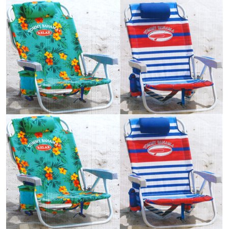 Tommy bahama backpack chair orange flowers and green blue background red white and blue - Backpack chairs walmart ...