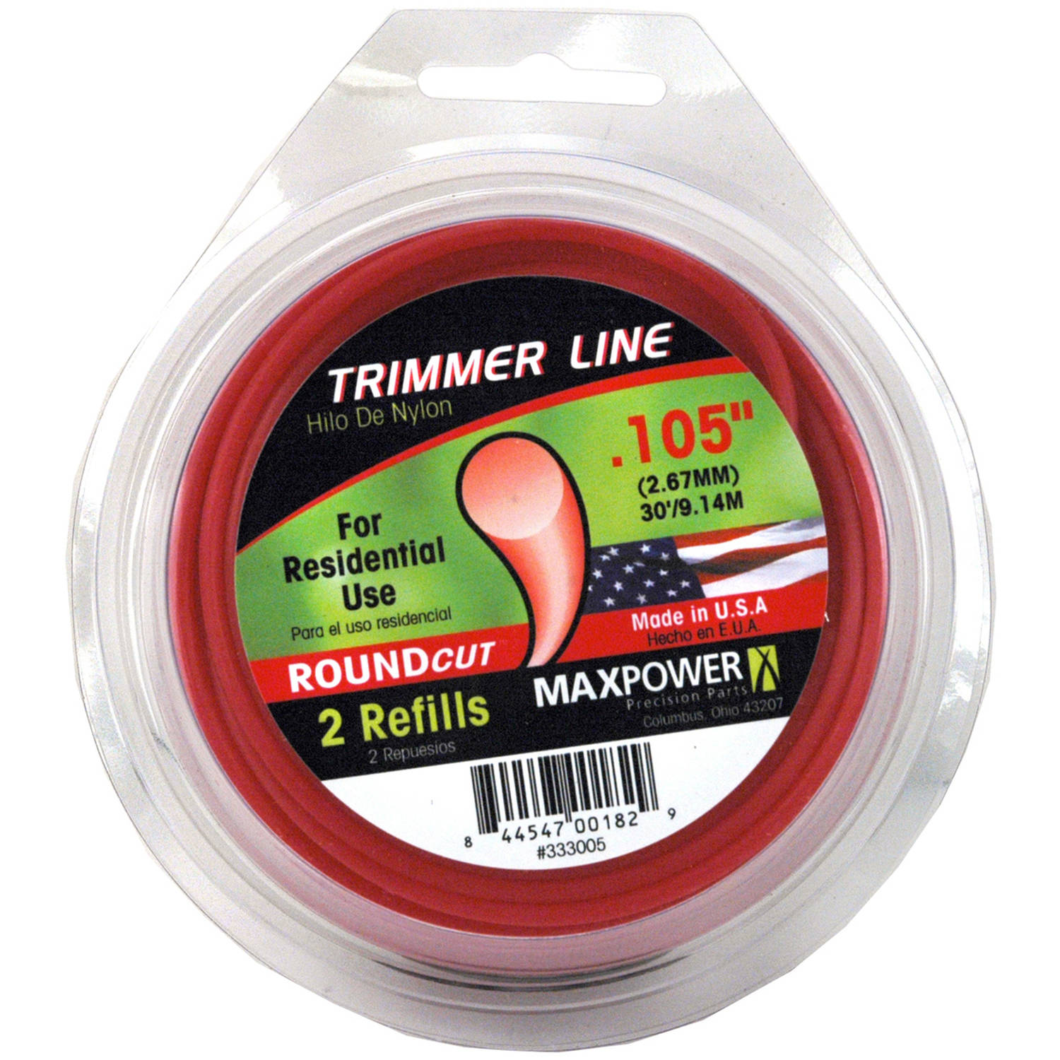 "Maxpower 333005 .105"" x 30' Trimmer Line"
