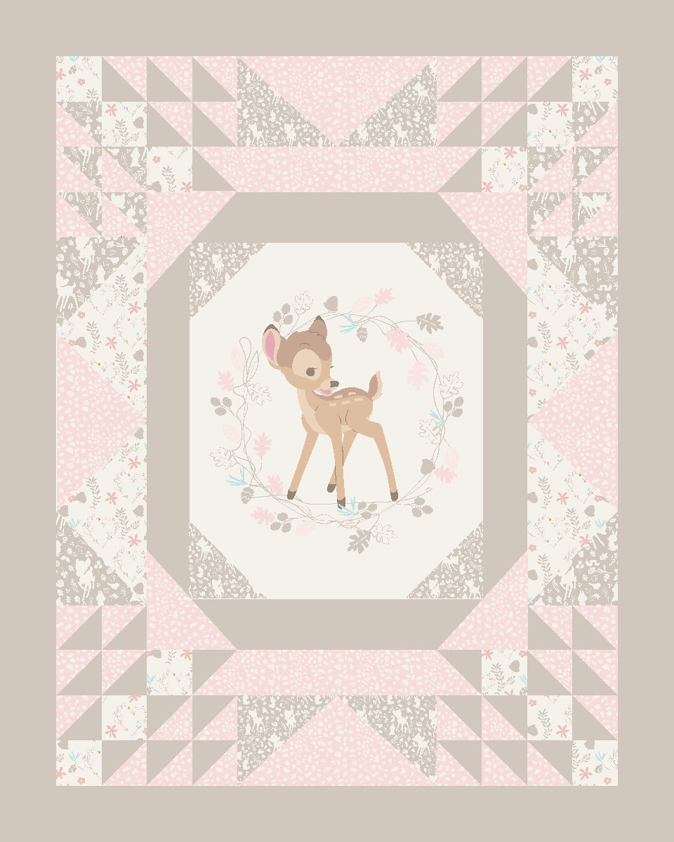 Disney bambi cheater quilt cotton fabric by the yard walmart com