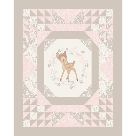 - Disney Bambi Cheater Quilt Cotton Fabric by the yard