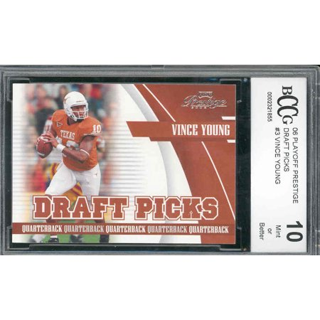 1999 Playoff Prestige Ssd (2006 playoff prestige draft #3 VINCE YOUNG rookie BGS BCCG 10)