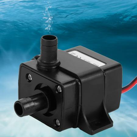 Qiilu 12V DC Ultra-Quiet Brushless Motor Submersible Water Pump for Garden Aquarium ,Water Pump, Submersible Water Pump - image 5 of 8