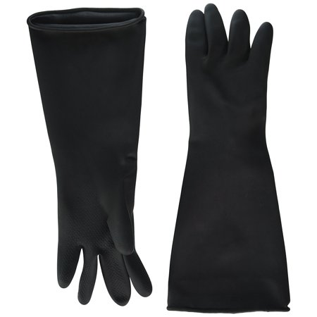 NLG-1018 Natural Latex Gloves, 10-Inch by 18-Inch, Black, Winco products are made to meet the high demands of a kitchen By - Latex Product
