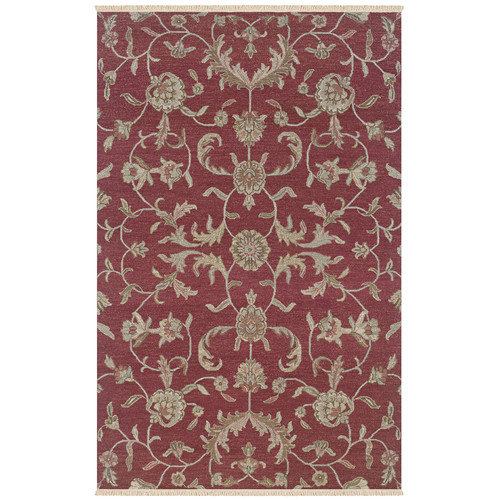 Rizzy Rugs Elegance Red Floral Area Rug