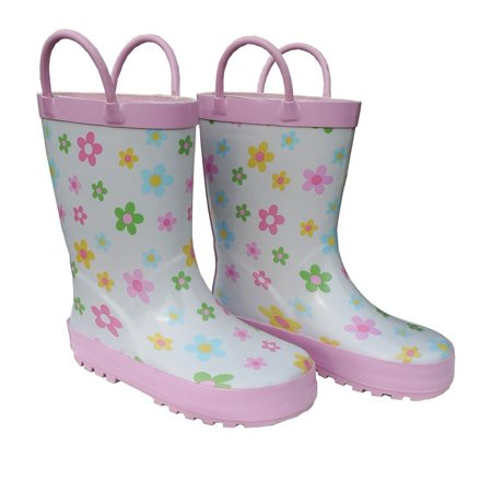 Pastel Posies Toddler Girls Rain Boots 5-10