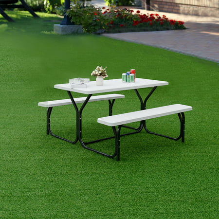 Picnic Table Bench Set Outdoor Backyard Patio Garden Party