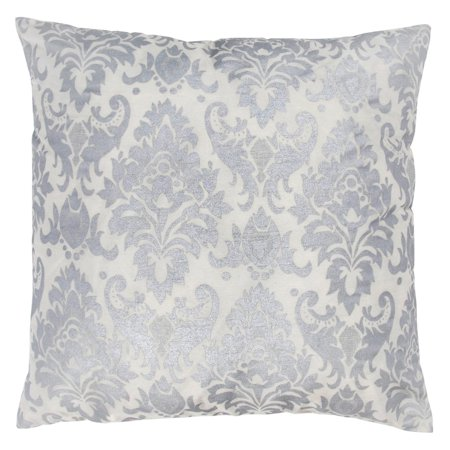 Rizzy Home Decorative Poly Filled Throw Pillow Damask 18