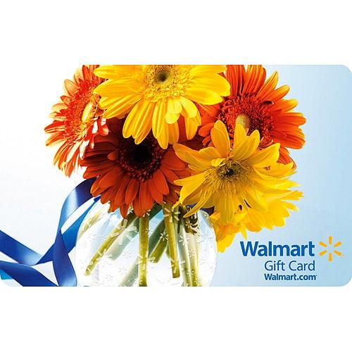 Flowers Walmart Gift Card