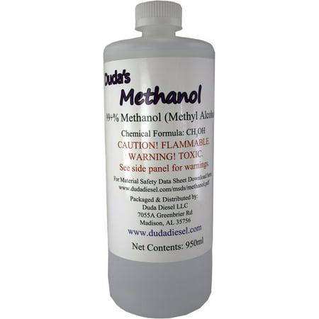 950ml / 32 oz Bottle of Pure Methanol Racing Biodiesel Gasoline Antifreeze Windshield Wiper (Wiper Fluid Bottle)