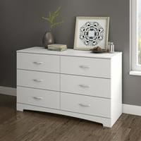 South Shore SoHo 6-Drawer Double Dresser, White