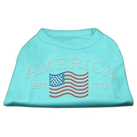 Classic American Rhinestone Shirts Aqua Xxxl  20