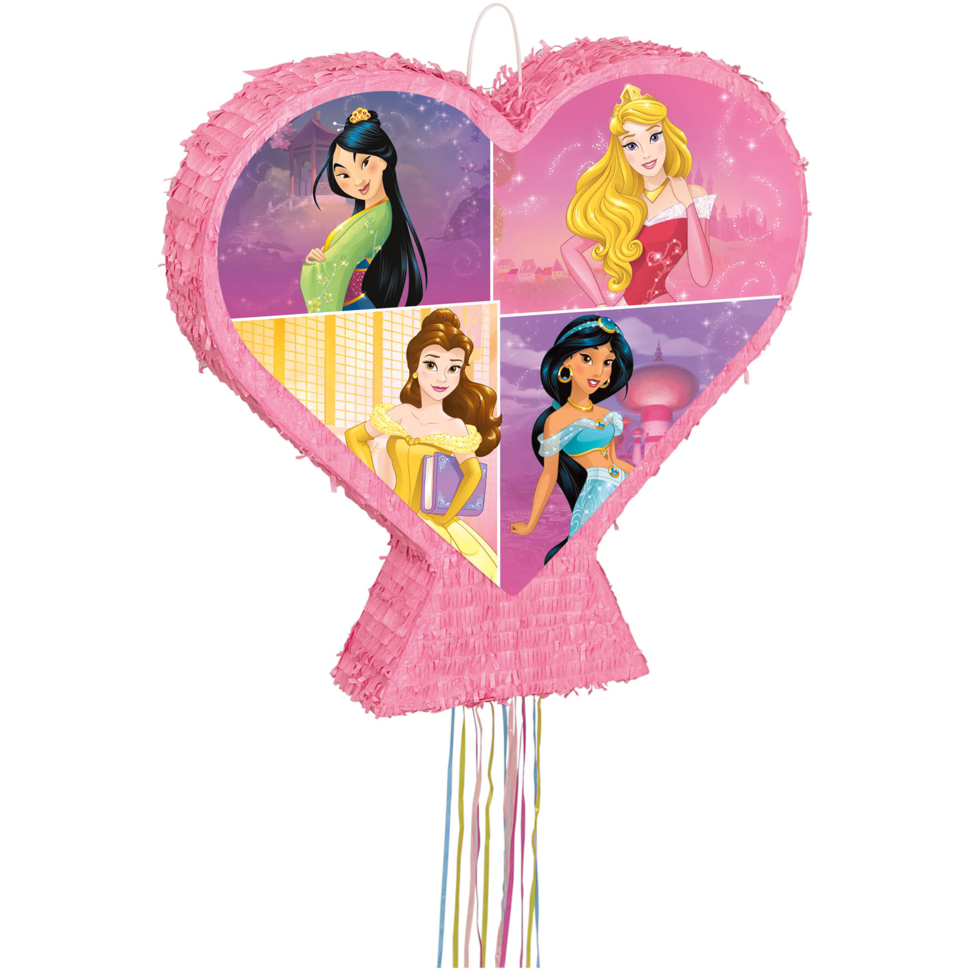 Disney Princess Pinata, Pull String, 22 x 22 in, 1ct