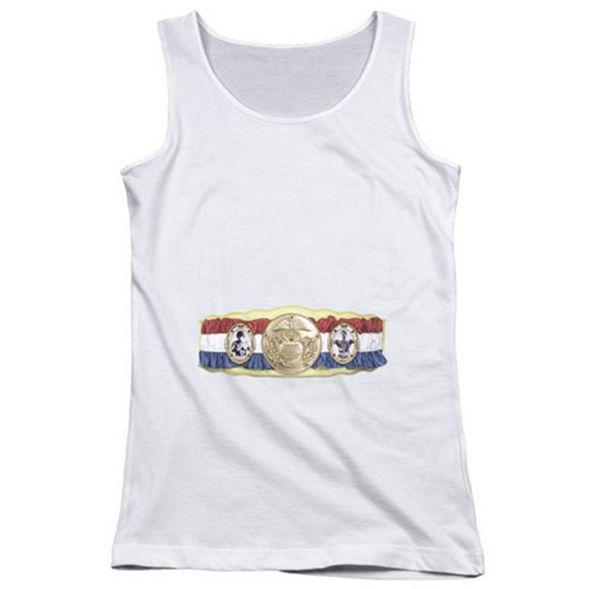 Rocky-Championship Belt Bottom Front - Juniors Tank Top, White - Medium - image 1 of 1