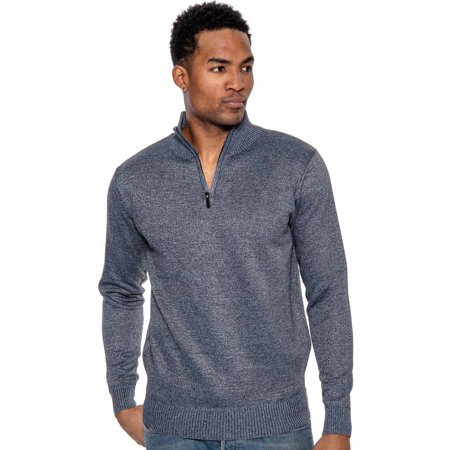 True Rock Men's Super Quarter Zip Mock Sweater