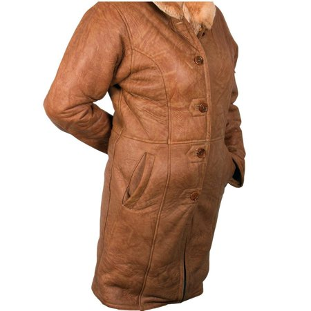Ladies Lucky Leather 1319 Rusty Brown Color Long Shearling ...