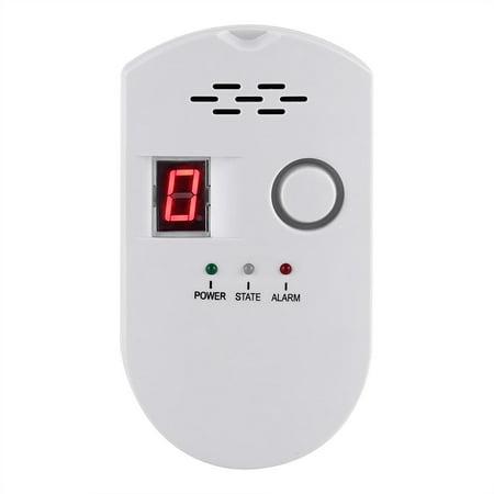 HERCHR Gas Leak Alarm, Gas Leakage Detector, Coal Natural Gas Leak Security Alarm Sensor Warning Detector, Gas Leak Alarm