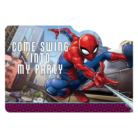 Marvel Spiderman Superhero Birthday Party Invitations 16 Count with Save the Date Stickers](Superhero Party Invitations)
