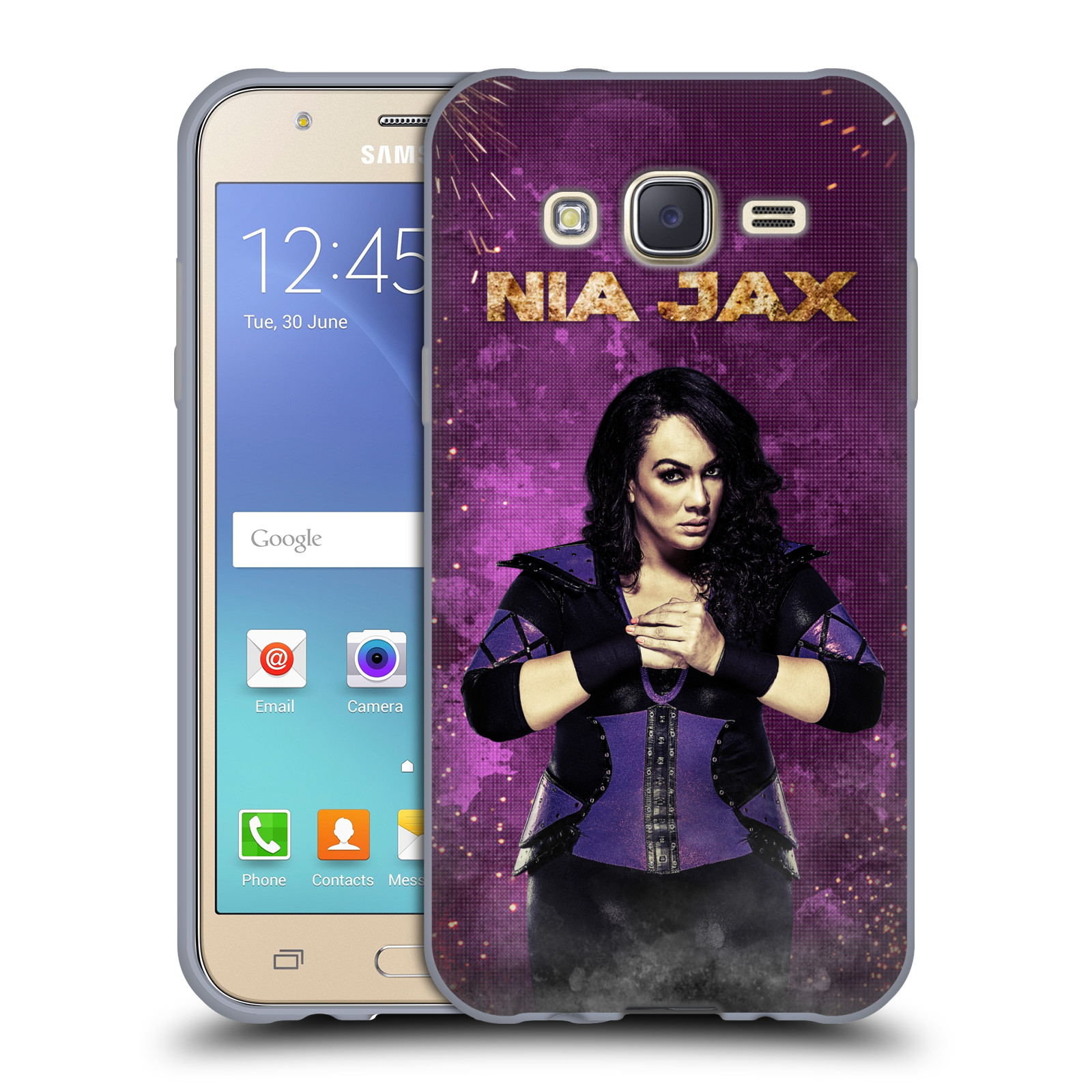 OFFICIAL WWE NIA JAX SOFT GEL CASE FOR SAMSUNG PHONES 3