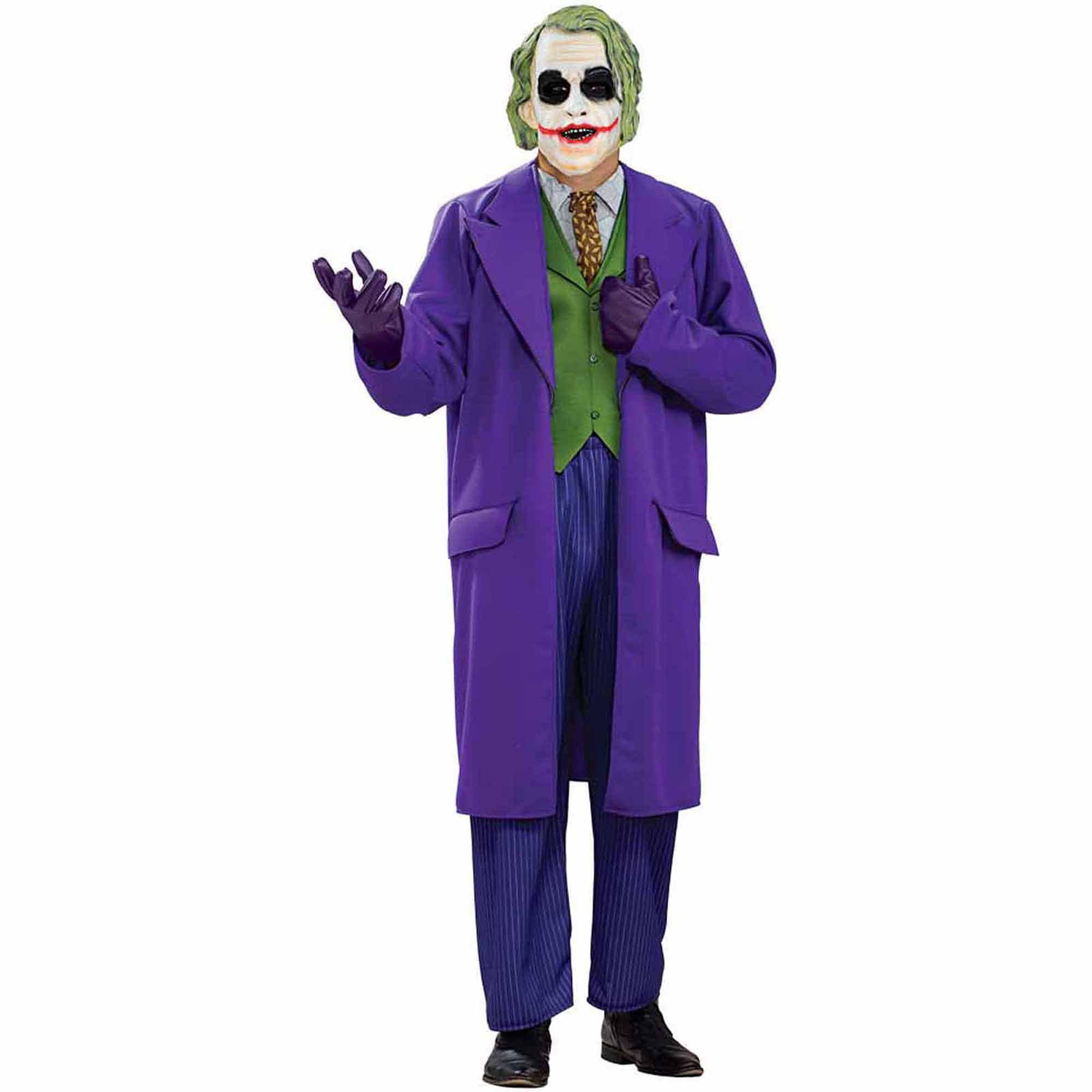Batman Dark Knight The Joker Deluxe Adult Halloween Costume  sc 1 st  Walmart & Joker Costumes