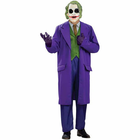 Batman Dark Knight The Joker Deluxe Adult Halloween Costume - Joker Halloween Costume Homemade