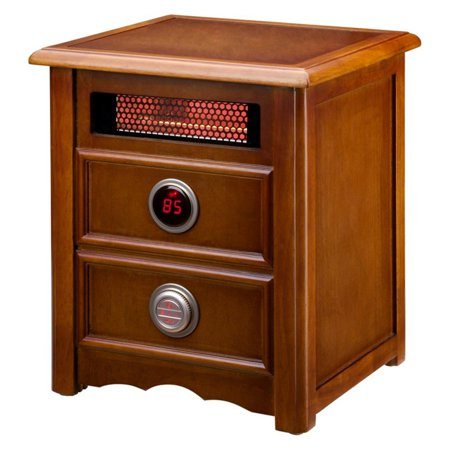 Dr. Infrared Heater DR-999 1500W Advanced Dual Heating System with Nightstand Design, Furniture-Grade Cabinet