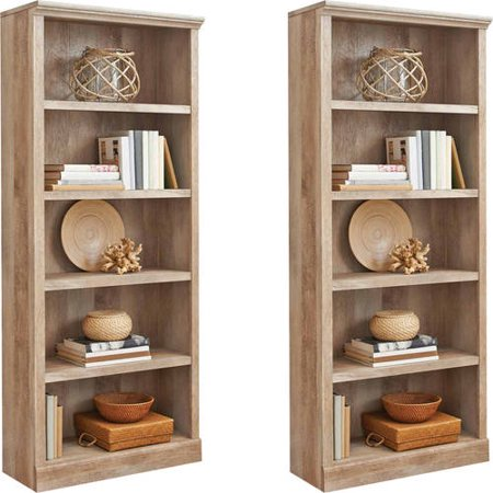 Better Homes And Gardens Crossmill 5 Shelf Bookcase Set Of 2 Mix And Match