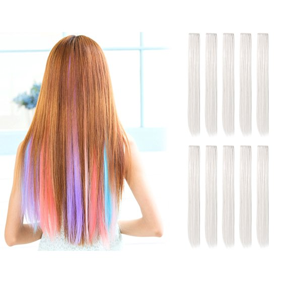 Onedor 23 Inch Straight Colored Party Highlight Clip On In Hair