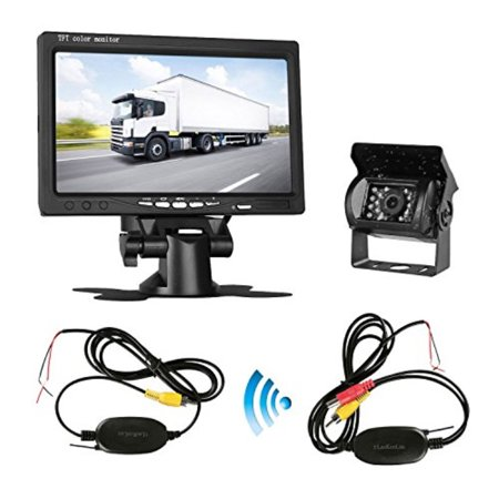 LeeKooLuu Wireless Backup Camera System with 7\'\' LCD Monitor Kit For ...
