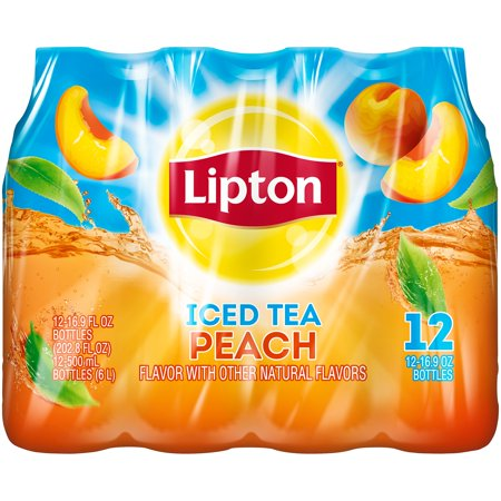 (2 Pack) Lipton Peach Iced Tea, 16.9 Fl Oz, 12 (Best Bottled Teas To Drink)