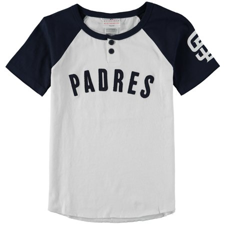 San Diego Padres Youth Game Day Jersey T-Shirt - White/Navy (San Diego State Halloween Game)