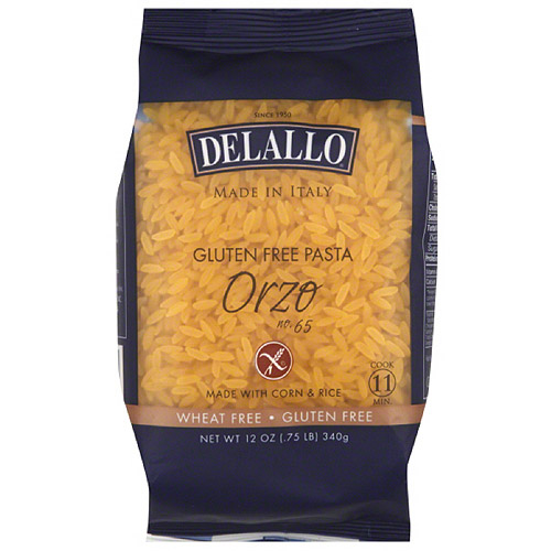DeLallo Orzo Gluten Free Pasta, 12 oz, (Pack of 12)