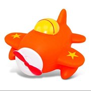 Puzzled Airplane Water Squirter Rubber Bath Toy, 3 Inch Adorable Floating Animal Squirties Interactive BPA Free Swimming Bathtub Buddies Fun Pool Infant And Toddler Bathing Aeroplane Themed Toys