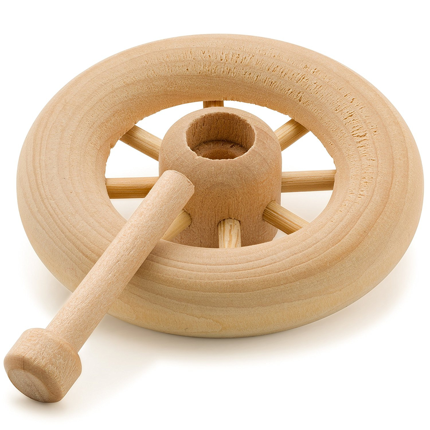 Wooden Spoked Toy Wheels 1-3/4 inch Includes Axles Pegs -...