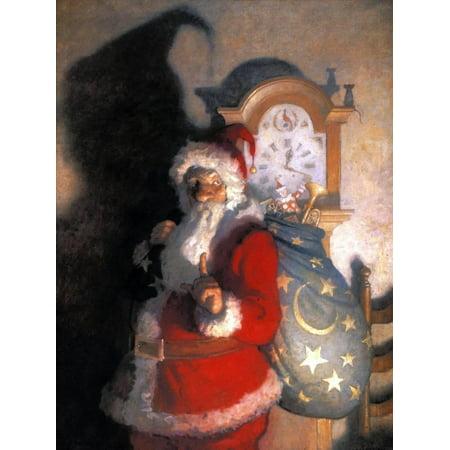Wyeth: Old Kris (Kringle) Christmas Santa Claus Art Print Wall Art By Newell Convers Wyeth