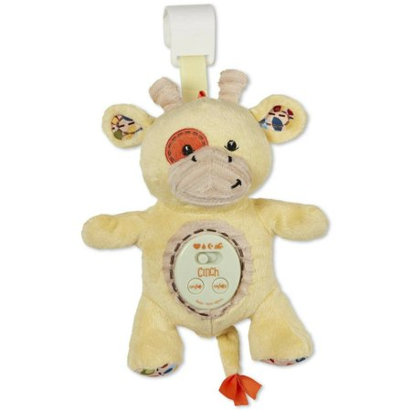 Sounds Giraffe - Cinch by dexbaby Plush Mini Giraffe - Sleep Aid Womb Sound Soother w/Playard and Crib Attachment