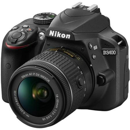 Nikon D3400 DX-Format DSLR Camera w/ AF-P DX NIKKOR 18-55mm F/3.5-5.6G VR Lens - Frozen Camera
