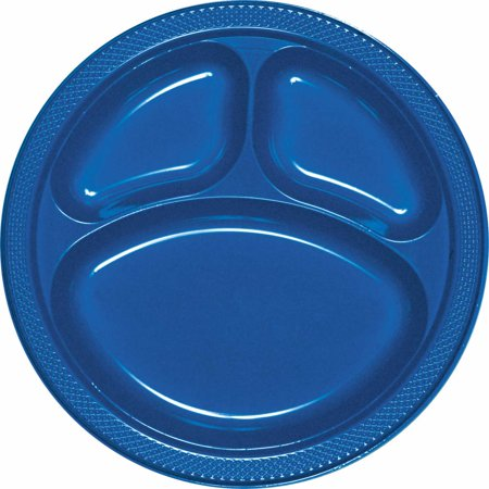 True Blue Divided Plate (Blue Snowflake Plates)