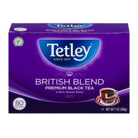 (4 pack) Tetley British Blend Premium Black Tea - 80 CT