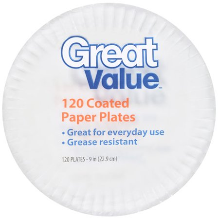 Great Value Economy Heavy Duty Paper Lunch Plates, 8 5/8