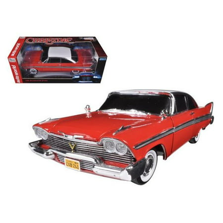 "1958 Plymouth Fury Christine"" Night Time Version 1/18 Diecast Model Car by Autoworld"""