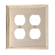 BRASS Accents Georgian Double Outlet Plate