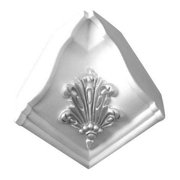 American Pro Decor 5APD10120 4.75 x 4.75 in. Inside Corner For Floral Crown Moulding