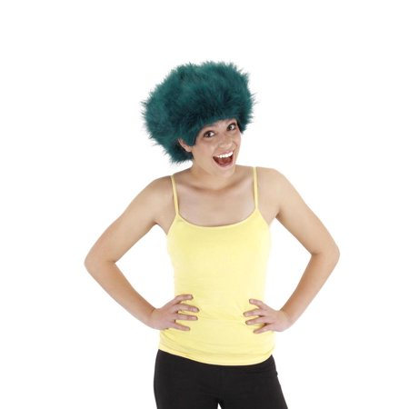 Teal Fuzzy Costume Wig Adult One Size - image 1 de 1