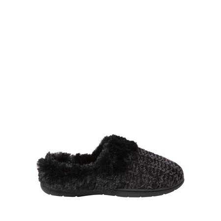 DF by Dearfoams Woman's Chenille Clog with Cuff Slippers for $<!---->
