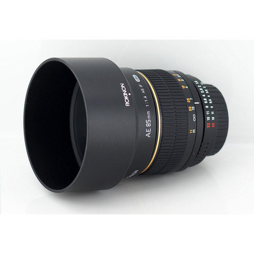 Rokinon 85mm F1.4 Aspherical Lens for Nikon AE with Automatic Chip