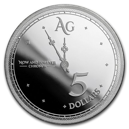 2019 Tokelau 1 oz Silver $5 Chronos