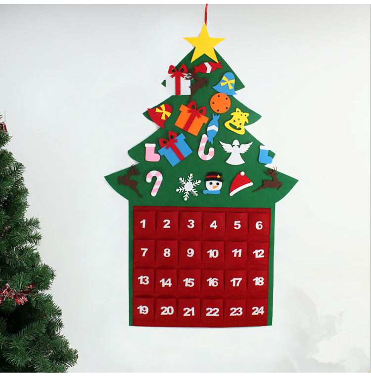 Felt Christmas Tree Set With 21pcs Detachable Ornaments Diy Wall Deocr Hanging Xmas Gifts For Kids Home Door Christmas Decorations Walmart Canada